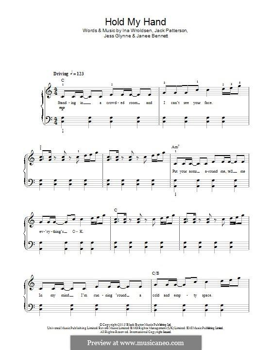 Hold My Hand: Para Piano by Ina Wroldsen, Jack Patterson, Jess Glynne, Janee Bennett