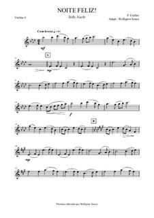 Silent Night (Downloadable): Para quinteto de cordas by Franz Xaver Gruber