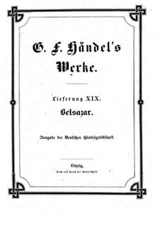 Belshazzar, HWV 61: partitura completa by Georg Friedrich Händel