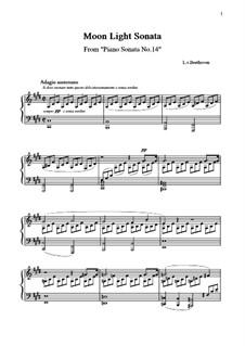 Movement I: para um único musico (Editado por H. Bulow) by Ludwig van Beethoven