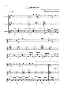 Kupalinka: Fot guitar trio by folklore
