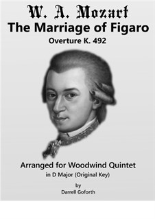 Overture: For woodwind quintet by Wolfgang Amadeus Mozart