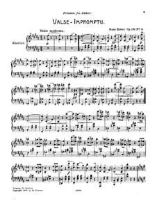 Six Octave Etudes, Op.124: No.2 Valse-Impromptu by Hans Huber