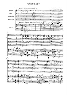 Piano Quintet in E Flat Minor, Op.87: Partitura completa by Johann Nepomuk Hummel