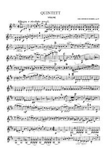 Piano Quintet in E Flat Minor, Op.87: Strings part by Johann Nepomuk Hummel