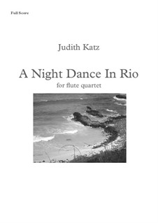 A Night Dance In Rio: partitura by Judith Katz