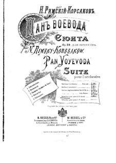 Pan Voyevoda, Op.59: Suite, for piano four hands by Nikolai Rimsky-Korsakov