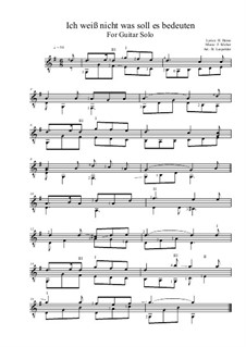Die Lorelei: For guitar solo by Friedrich Silcher