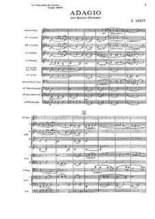 Adagio for String Trio and String Orchestra: Adagio for String Trio and String Orchestra by Guillaume Lekeu