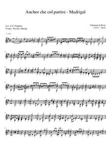 Ancor Che Col Partire: Para Guitarra by Cyprien de Rore