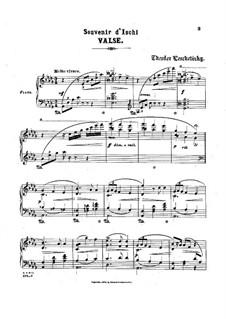 Two Pieces, Op.35: No.2 Souvenir d'Ischl by Theodor Leschetizky