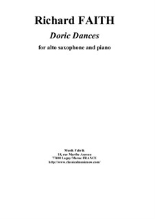 Doric Dances: para alto saxofone e piano by Richard Faith