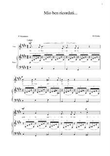 Mio ben ricordati: E Major by Mikhail Glinka