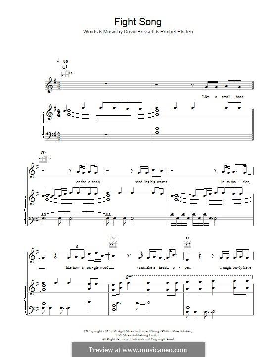 Fight Song: Para vocais e piano (ou Guitarra) by Dave Bassett, Rachel Platten
