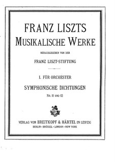 Symphonic Poem No.11 'The Battle of the Huns' for Orchestra, S.105: Partitura completa by Franz Liszt