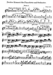 Piano Concerto No.2, S.125: violino parte I by Franz Liszt