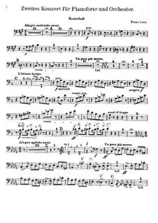 Piano Concerto No.2, S.125: Parte contrabaixo by Franz Liszt