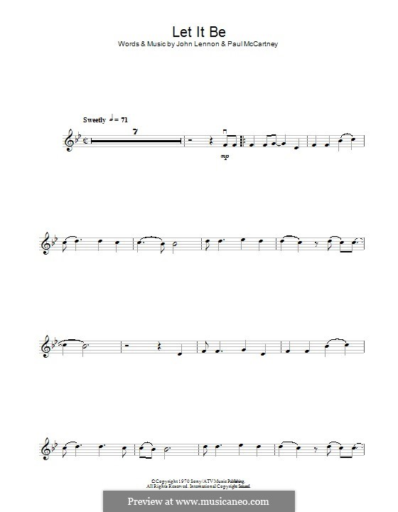 Let it Be (The Beatles): para violino by John Lennon, Paul McCartney