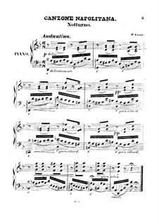 Canzone Napolitana, S.248: Canzone Napolitana by Franz Liszt