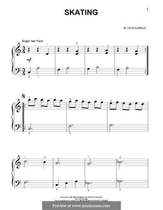 Skating: Para Piano by Vince Guaraldi