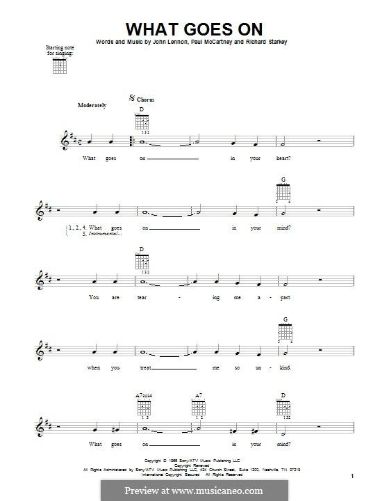 What Goes on? (The Beatles): Para guitarra com guia by John Lennon, Paul McCartney, Ringo Starr