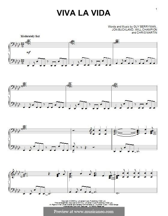 Piano version: para um único musico (Editado por H. Bulow) by Chris Martin, Guy Berryman, Jonny Buckland, Will Champion