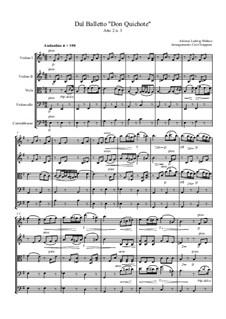 Don Quixote: Atto 2 No.3, for string quintet by Ludwig Minkus