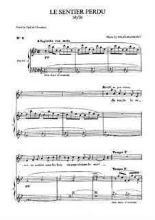 Le sentier perdu: para voz media e piano by Jules Massenet
