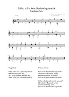 Stille, stille, kein Geräusch gemacht: For guitar solo (C major) by Moritz Vogel