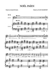 Noël païen: para voz media e piano by Jules Massenet