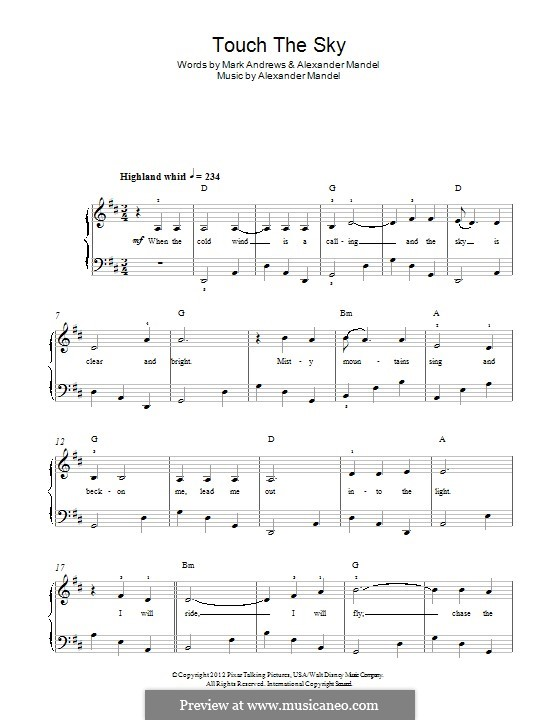 Touch the Sky (Julie Fowlis): Para Piano by Alexander L. Mandel