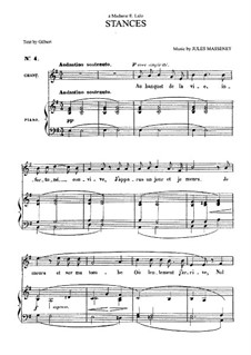 Stances: para voz media e piano by Jules Massenet