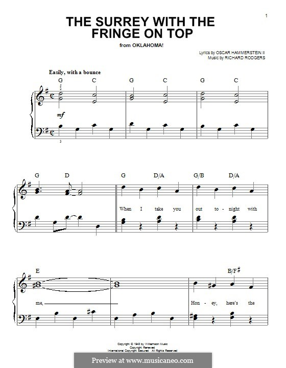 The Surrey with the Fringe on Top: Para Piano by Richard Rodgers