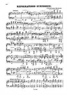 Symphony No.5 in D Major 'Reformation', Op.107: versão para piano by Felix Mendelssohn-Bartholdy