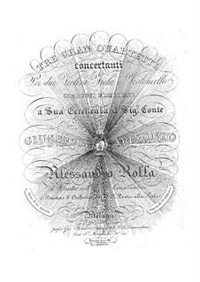 Three String Quartets, BI 410, 405, 397 Op.2: Três Quartetos de Cordas by Alessandro Rolla