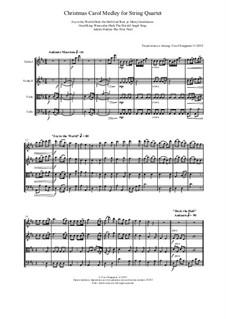 Christmas Carol Medley for String Quartet: Christmas Carol Medley for String Quartet by Georg Friedrich Händel, Felix Mendelssohn-Bartholdy, folklore, John Reading, Unknown (works before 1850)
