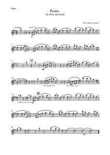 Poem, Op.108: Für Oboe und Harfe by Dieter Angerer