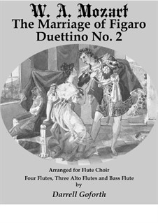 Duettino No.2: For flute choir by Wolfgang Amadeus Mozart
