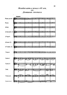 Overture to the vaudeville 'Young Mother and the 48 Year Old Fiance': partitura completa by Alexander Alyabyev