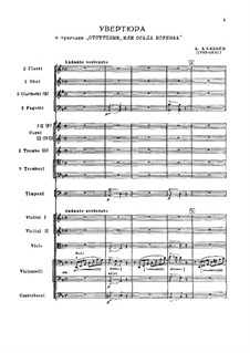 The Apostate. Overture: partitura completa by Alexander Alyabyev