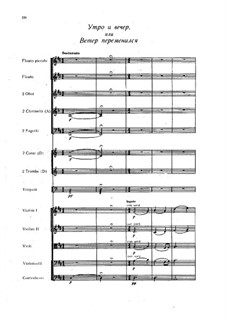 Overture to the vaudeville 'Morning and Evening': partitura completa by Alexander Alyabyev