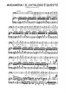 Madamina! il catalogo è questo: Partitura Piano-vocal by Wolfgang Amadeus Mozart