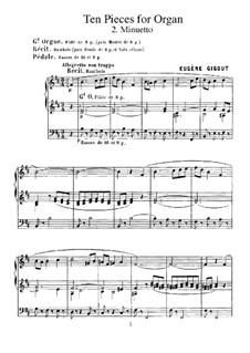 Ten Pieces for Organ: No.2 Minueto by Eugène Gigout