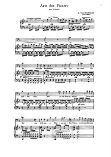 Ha! Welch' ein Augenblick: Partitura Piano-vocal by Ludwig van Beethoven