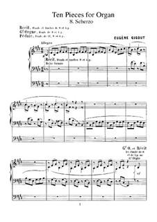 Ten Pieces for Organ: No.8 Scherzo by Eugène Gigout