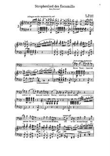 Strophenlied des Escamillo: Strophenlied des Escamillo by Georges Bizet
