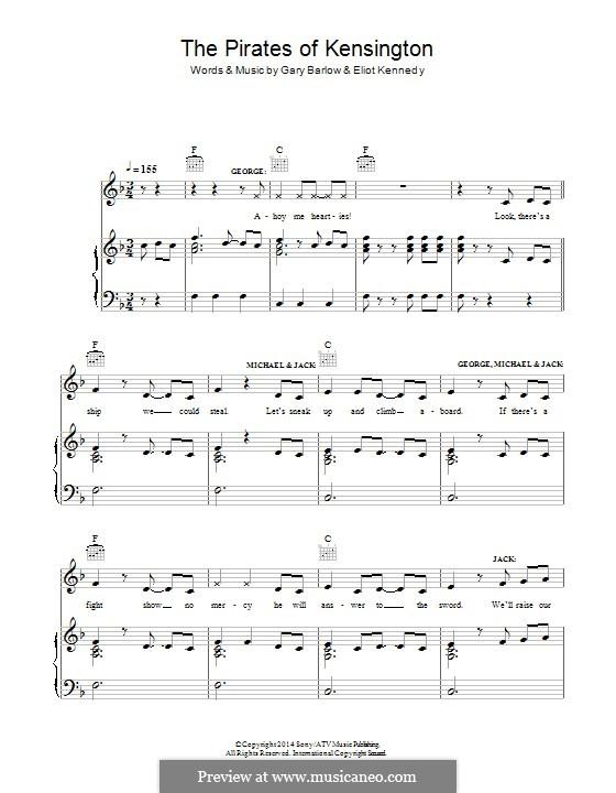 The Pirates of Kensington (from 'Finding Neverland'): Para vocais e piano (ou Guitarra) by Eliot Kennedy, Gary Barlow