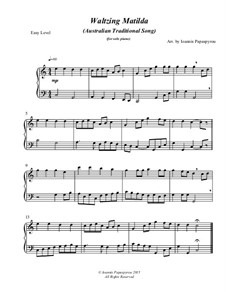 Waltzing Matilda: For piano (easy) by folklore