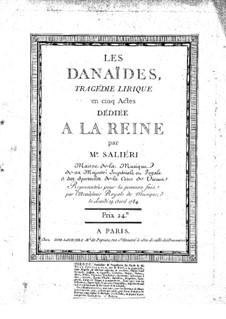Les Danaïdes: Les Danaïdes by Antonio Salieri