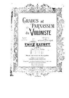 Gradus ad Parnassum for Violin (Movement III), Op.36: Gradus ad Parnassum for Violin (Movement III) by Émile Sauret